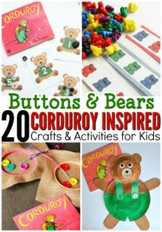 Reading Corduroy with your preschooler? Pair it with a few of these awesome crafts and activities for a fun literature based theme unit!