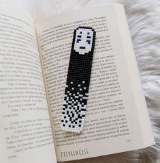 Spirited away No Face Bookmark pixel art anime ghibli art Hama Perler beads Reading book lover book gift stationery - - Pixel Art Templates, Perler Bead Templates, Diy Perler Beads, Pearler Bead Patterns, Perler Bead Art, Perler Patterns, Pearler Beads, Ghibli, Hamma Beads Ideas