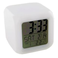 @ShopAndThinkBig.com - The Led Color Changing Digital Alarm Clock Features A Glowing Led Display In Seven Changing Colors. The Moodicare Glowing Clock Provides You With The Time, Day Of The Week, Date (Month/day), Week And Temperature Along With Eight Alarm Songs. The Clock Runs On Four 'aaa' Batteries And Two Ag13 Batteries. Brighten Up Your Mornings With The Color Changing Display! http://www.shopandthinkbig.com/glowing-led-color-mood-changing-digital-alarm-clock-generic-p-2338.html