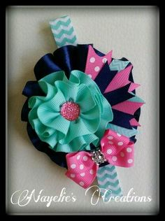 Fabric Flower Headbands, Cute Headbands, Diy Headband, Baby Girl Headbands, Baby Bows, Fabric Flowers, Ribbon Hair Bows, Diy Ribbon, Girl Hair Bows