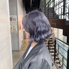 Hair Color Streaks, Hair Dye Colors, Grey White Hair, Blue Hair, Dip Dye Hair, Dyed Hair, Hairstyles Haircuts, Pretty Hairstyles, Hair Inspo