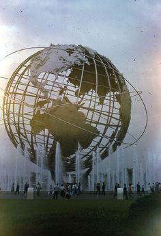 1965 NYWF New York Worlds Fair Unisphere 35mm Slide Original World's Fair, Goodies, Fair Grounds, New York, The Originals, Amazon, Travel, Etsy, Image