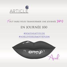 ARTICLE 6 Tout faire pour transformer une journée sans... #femmefatale #citationsfillesphotos #citationsdujour #madamedepaname #femmemoderne #suivezmoi