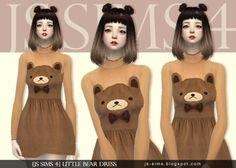 Sims 4 CC's - The Best: Little Bear Dress by JS Sims