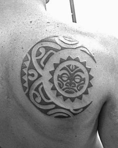 Discover radiant line work inspiration with the top 50 best tribal sun tattoo designs for men. Explore cool black ink rays and manly sunshine ink ideas. Tribal Tattoo Designs, Tribal Moon Tattoo, Celestial Tattoo, Moon Sun Tattoo, Tribal Tattoos For Men, Tattoo Designs And Meanings, Trendy Tattoos, Tattoos For Guys, Sun Moon