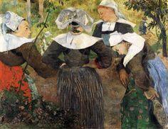 Paul Gauguin. Four Breton Women Dancing, 1886