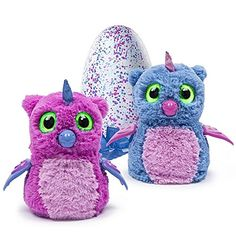 Electronic Pets - Hatchimals Hatching Egg Interactive Creature Owlicorn Baby Toy PinkBlue -- Visit the image link more details.