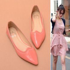 Candy Simple Head Flat Shoes