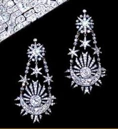 boucles d'oreille de diamants de Marie Antoinette