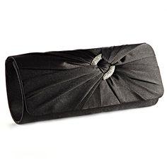 Anladia Satin Diamante Pleated Evening Clutch Bag Bridal Handbag Prom Purse (Black) Anladia,http://www.amazon.com/dp/B00FRC1WTY/ref=cm_sw_r_pi_dp_vHP7sb0VVJA6KE22