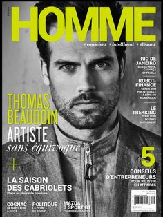 """Thomas on the cover of canadian magazine """"Homme"""". The issue includes an interview with him! Please, who can help me with a high-res scan? -> webmistress@thomas-beaudoin.com"""
