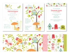 Enchanted garden party invitations