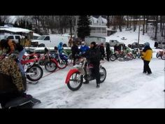 ▶ 2014 Hangover National - YouTube  Motorcycles and dirt bikes on ice!!!  Love it!