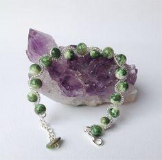 Jade Green Bracelet Beaded craftyirelandteam by DelabudCreations Funky Jewelry, Unique Jewelry, Cork City, Jade Green, Shop My, Jewelry Design, Beaded Bracelets, Etsy Shop, Ceramics