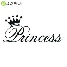 Cheap baby art, Buy Quality vinyl decal directly from China crown wall sticker Suppliers: JJRUI Various Color Beautiful Princess Crown Wall Sticker Bedroom Decor Vinyl Decal Die Cut - Girl Crown Car Window Baby Art Princess Crown Tattoos, Princess Tattoo, Princess Crowns, Princess Party, Disney Princess, Machine Silhouette Portrait, Girl Silhouette, Princess Letras, Removable Wall Stickers
