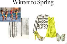 """""""Winter to Spring"""" by kyrall ❤ liked on Polyvore"""