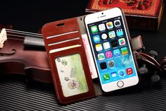 Leather Wallet Case for iPhone 6s/6 w/Stand, Photo and Card Slots, w/screen film #Stylle