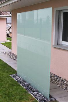 Garten   Sichtschutz Aus Glas
