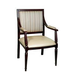 Traditional seat, back and arms upholstered aluminum wood look arm chair, made to be durable this chair is perfect for restaurants or any high traffic venue Wood Chairs, Dining Room Chairs, Bar Furniture, Armchair, Restaurants, Arms, Traditional, Leather, Color