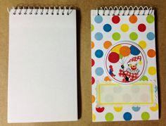 DIY Blank Spiral Notebooks. Inexpensive and cute party craft.  - Jilly Bean Kids www.jillybeankids.com