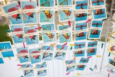 Loteria seating cards.