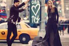 visual optimism; fashion editorials, shows, campaigns & more!: cara delevingne and ollie edwards by mikael jansson for dkny f/w 13.14