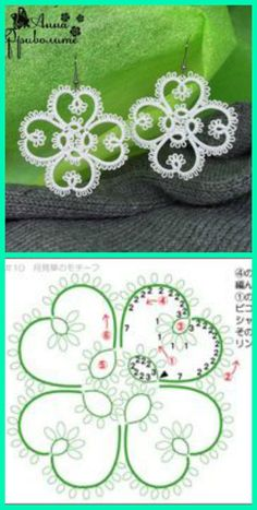 Goudenregen: Good patterns for needle tatting.Needle Tatting Patterns For Beginners - Bing ImagensNot every pattern works out for needle tatting, but these ones give a good result and are not very complicated to make with a needle.Résultat d'images pou Tatting Earrings, Tatting Jewelry, Tatting Lace, Shuttle Tatting Patterns, Needle Tatting Patterns, Needle Tatting Tutorial, Bracelet Crochet, Crochet Earrings, Lace Patterns