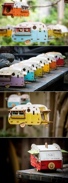Even the birds need a vacation. Give them a place to relax with this camping inspired birdhouse #buildabirdhousekit