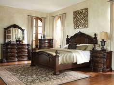 Magnificent details give Churchill Bedroom a grand and stately character that's sure to create a stunning master retreat in today's traditional home.