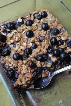 Blueberry & Raspberry Baked Oatmeal ♥Follow us♥