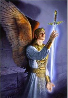 Archangel Micheal The first Angel created by God, Michael is the leader of all the Archangels and is in charge of protection, courage, strength, truth and integrity.  Michael protects us physically, emotionally and psychically.  He also oversees the lightworker's life purpose.  His chief function is to rid the earth and its inhabitants of the toxins associated with fear.