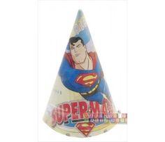 Superman Vintage Cone Hats (8ct)