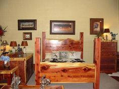 Custom made cedar furniture