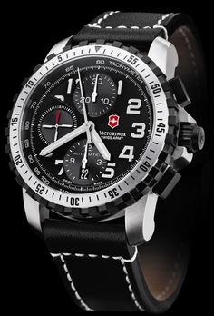 Victorinox Alpnach automatic chronograph pilot's watch - ETA Valjoux 7750 movement 1000 Stylish Watches, Luxury Watches, Cool Watches, Watches For Men, Swiss Army Watches Mens, Men's Watches, Wholesale Sunglasses, Skeleton Watches, Victorinox Swiss Army