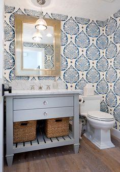 White and Navy Wallpaper: Galbraith & Paul Lotus Wallpaper.  Erin Hedrick. white-and-navy-wallpaper-galbraith-paul-lotus-wallpaper