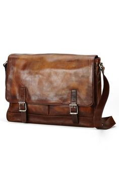 Free shipping and returns on Frye 'Oliver' Leather Messenger Bag at Nordstrom.com. Beautifully tanned and aged with a distinctive vintage patina, this timeless leather messenger bag from Frye holds the character to wow in the office or a business meeting. The flap-top two-compartment design with an exterior slip pocket and under-flap pockets allow for easy organization of paper documents and electronics.