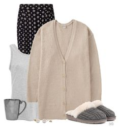"""""""Lazy Saturday"""" by coombsie24 ❤ liked on Polyvore featuring Miss Selfridge, UGG Australia, Uniqlo, UGG and Juliska"""