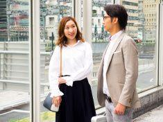 日本の実業家通勤のビジネスエリアがございます。 stock photo