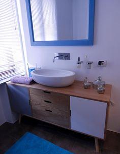 mobile sospeso con base lavabo doppia 1 cassetto, base laterale 1 ... - Lucido Cabinet Grigio Lavandino