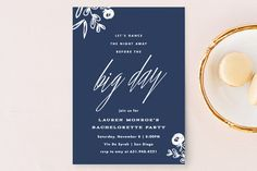 """Dance the Night Away"" - Floral & Botanical Bachelorette Party Invitations in Hot Pink by Carolyn MacLaren."