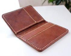 Tarjeta titular de la tarjeta de crédito cartera tarjeta caso billetera de cuero cartera minimalista artesanal cuero tarjeta redit caso tarjeta organizador de cuero