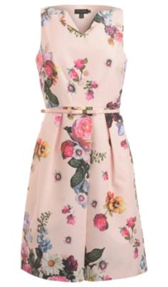 Faded pink flowered dress