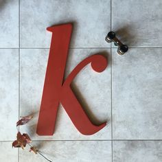 K #wallhanging #decor #woodenletter Measures 40 cms and I happily make to order