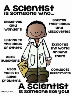 The Parts of a Scientist poster for elementary classrooms ...