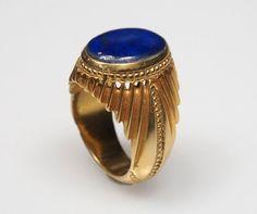 antik orient Massive silber Vergoldet Ring mit von KabulGallery
