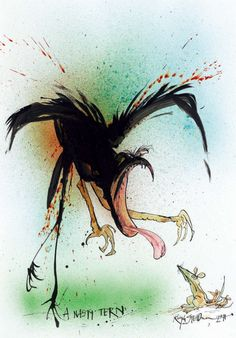Ralph Steadman, Nasty Tern, 2011.