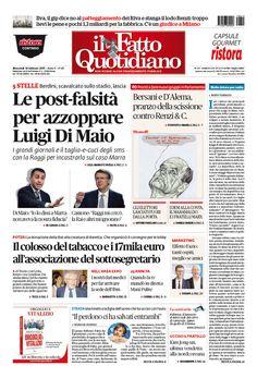 Il Fatto Quotidiano Prima Pagina di Oggi 15 Febbraio 2017 http://ift.tt/2kHR0ij