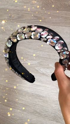 Black headband for woman, Christmas gift for girlfriend, embellish crystal headband, hair sparkle and festival crown, party headpiece Crystal Headband, Black Headband, Diy Headband, Christmas Gifts For Girlfriend, Christmas Gifts For Women, Crown Party, Headpiece Jewelry, Wedding With Kids, Diy Hair Accessories