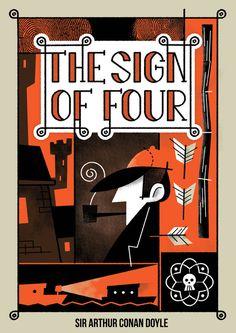 Hypothetical cover design of The Sign of Four by Leon de Korte, via Behance