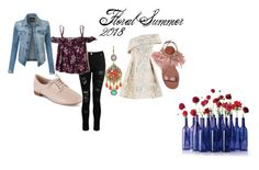 """""""Floral Summer Porject"""" by bbinxies on Polyvore featuring Dorothy Perkins, Hollister Co., Clarks, Topshop, Miu Miu, WithChic and LE3NO"""